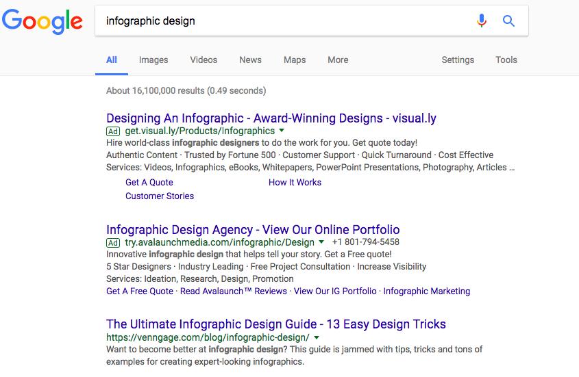 infographic design screenshot